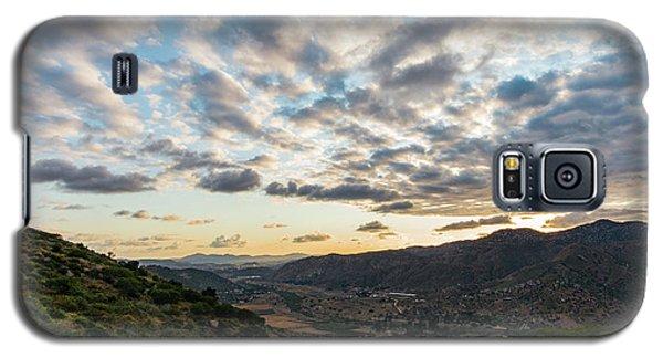 Sunset Over El Monte Valley Galaxy S5 Case