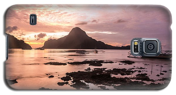 Sunset Over El Nido Bay In Palawan In The Philippines Galaxy S5 Case