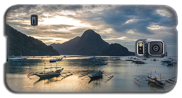 Sunset Over El Nido Bay In Palawan, Philippines Galaxy S5 Case