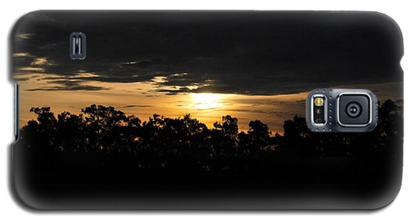 Sunset Over Farm And Trees - Silhouette View  Galaxy S5 Case by Matt Harang