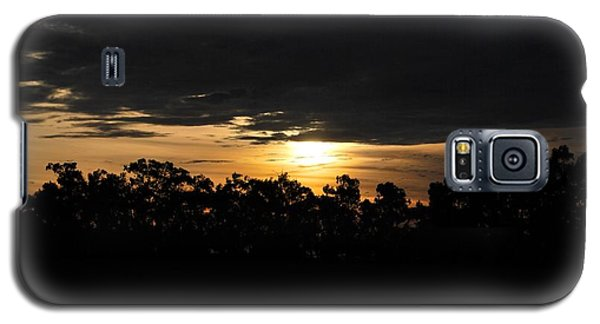 Sunset Over Farm And Trees - Silhouette View  Galaxy S5 Case