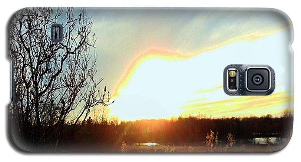 Sunset Over Fields Galaxy S5 Case