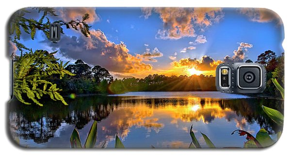 Sunset Over Hidden Lake In Jupiter Florida Galaxy S5 Case by Justin Kelefas