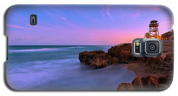 Sunset Over House Of Refuge Beach On Hutchinson Island Florida Galaxy S5 Case