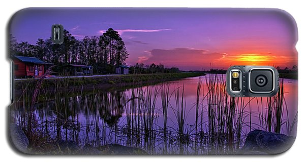 Sunset Over Hungryland Wildlife Management Area Galaxy S5 Case by Justin Kelefas