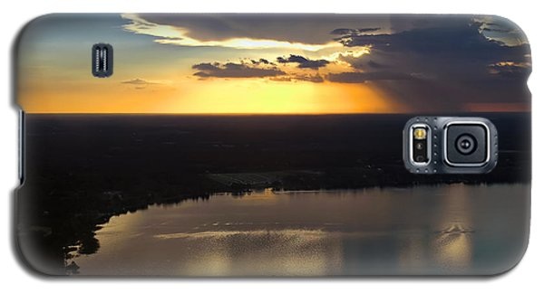 Sunset Over Lake Galaxy S5 Case by Carolyn Marshall