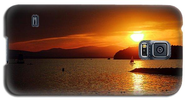 Sunset Over Lake Champlain Galaxy S5 Case