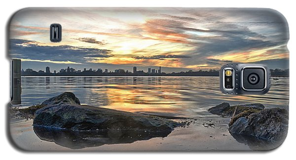 Galaxy S5 Case featuring the photograph Sunset Over Lake Kralingen  by Frans Blok