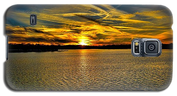Sunset Over Lake Palestine Galaxy S5 Case