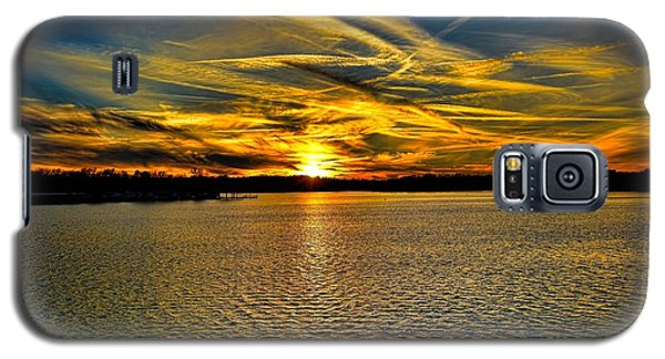 Sunset Over Lake Palestine Galaxy S5 Case