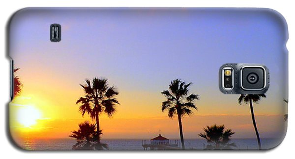 Sunset Over Manhattan Beach Galaxy S5 Case