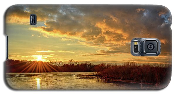 Sunset Over Marsh Galaxy S5 Case by Bonfire Photography