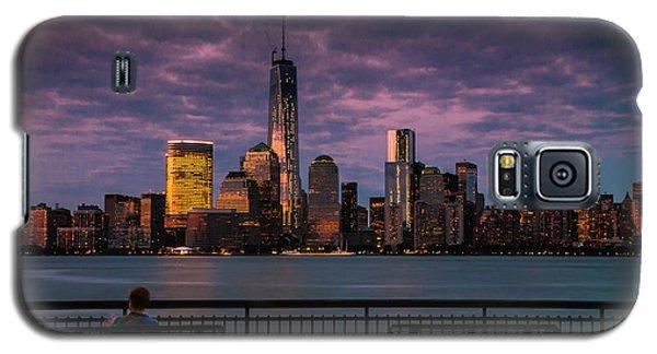 Sunset Over New World Trade Center New York City Galaxy S5 Case