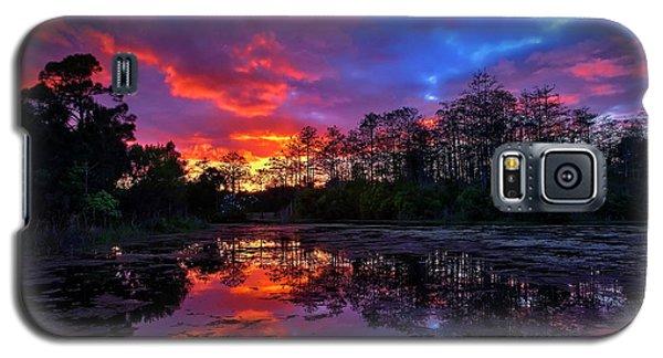 Sunset Over Riverbend Park In Jupiter Florida Galaxy S5 Case