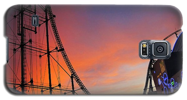 Sunset Over Roller Coaster Galaxy S5 Case