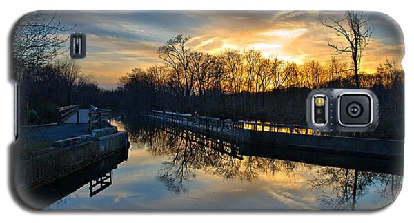 Sunset Over Scudders Mill Aqueduct Galaxy S5 Case