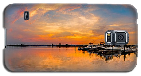 Sunset Over Shrewsbury Bay Galaxy S5 Case