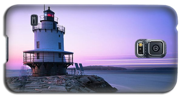 Sunset Over Spring Breakwater Lighthouse In South Maine Galaxy S5 Case