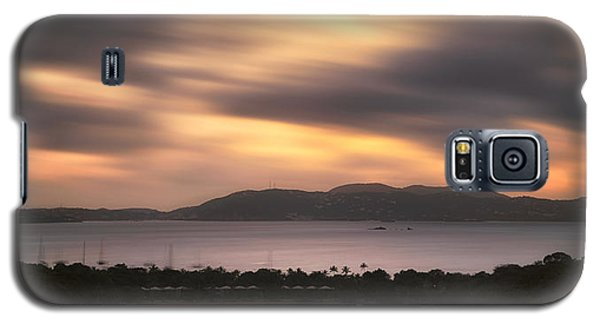 Galaxy S5 Case featuring the photograph Sunset Over St. John And St. Thomas Panoramic by Adam Romanowicz