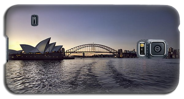 Sunset Over Sydney Harbor Bridge And Sydney Opera House Galaxy S5 Case