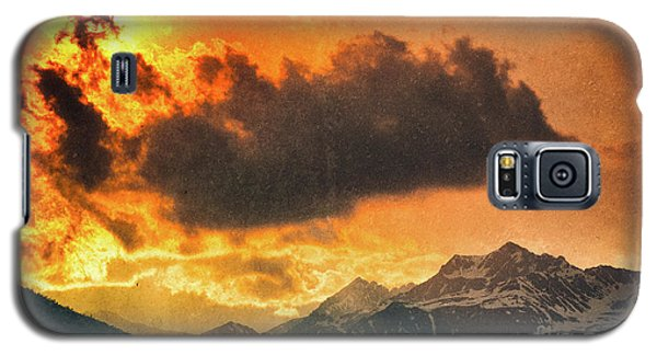 Galaxy S5 Case featuring the photograph Sunset Over The Alps by Silvia Ganora