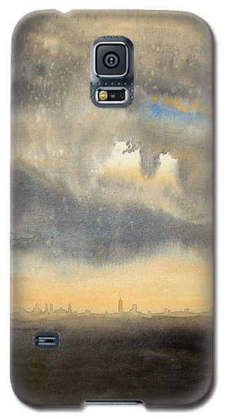 Galaxy S5 Case featuring the painting Sunset Over The City by Andrew King