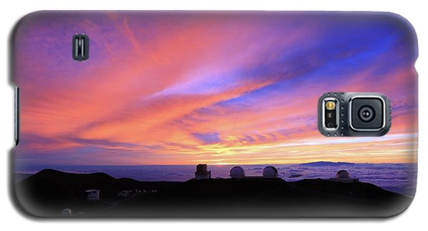 Sunset Over The Clouds Galaxy S5 Case