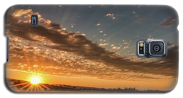 Galaxy S5 Case featuring the photograph Sunset Over The Golden Meadow by Don Schwartz