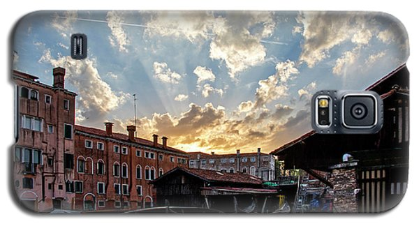 Sunset Over The Gondola Shop In Venice Galaxy S5 Case by Jean Haynes