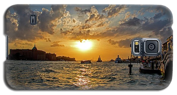 Sunset Over The Grand Canal In Venice Galaxy S5 Case by Jean Haynes