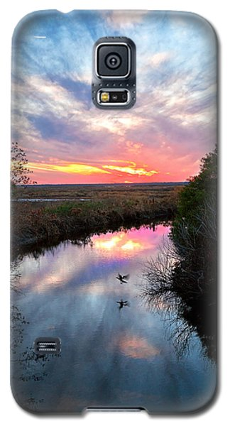 Sunset Over The Marsh Galaxy S5 Case