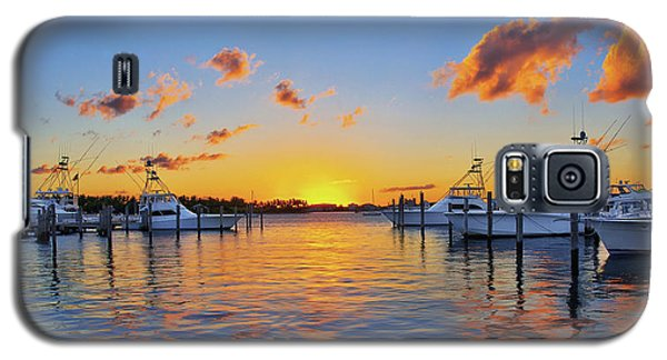 Sunset Over The Sailfish Marina In Riviera Beach Florida Galaxy S5 Case