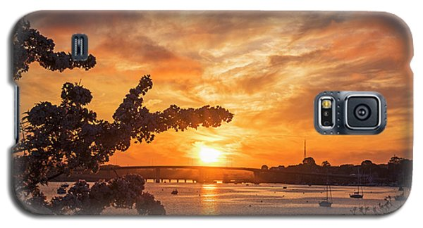 Sunset Over The Salem Beverly Bridge From The Salem Willows Salem Ma Galaxy S5 Case