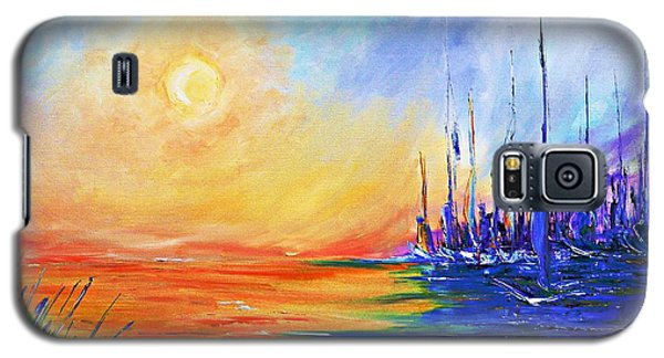 Sunset Over The Sea Galaxy S5 Case