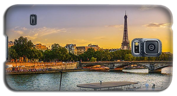 Sunset Over The Seine In Paris Galaxy S5 Case