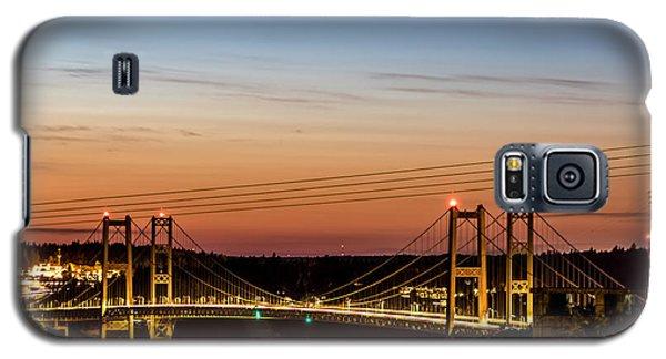 Sunset Over The Tacoma Narrows Bridges Galaxy S5 Case