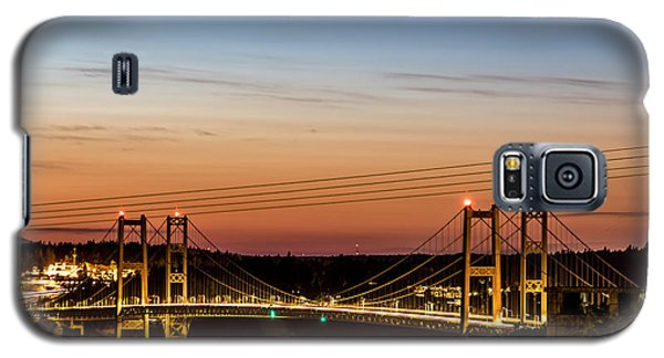Sunset Over The Tacoma Narrows Bridges Galaxy S5 Case