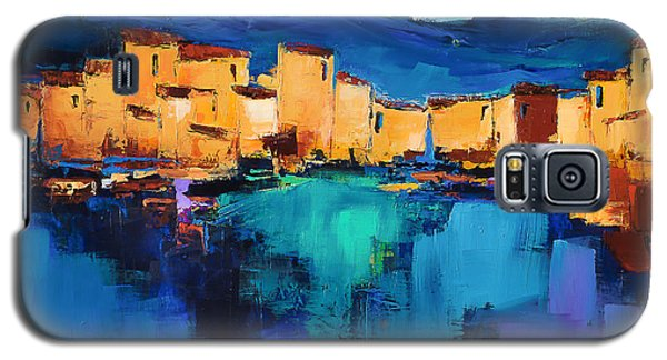 Sunset Over The Village 3 By Elise Palmigiani Galaxy S5 Case