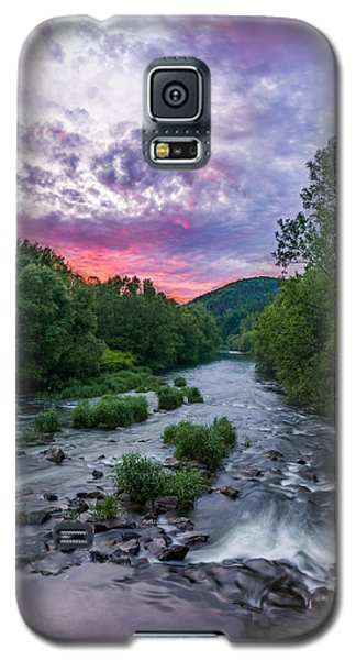 Galaxy S5 Case featuring the photograph Sunset Over The Vistula In The Silesian Beskids by Dmytro Korol