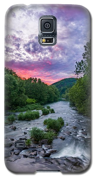 Sunset Over The Vistula In The Silesian Beskids Galaxy S5 Case