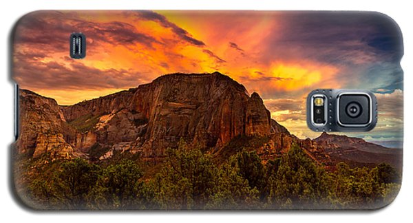 Sunset Over Timber Top Mountain Galaxy S5 Case