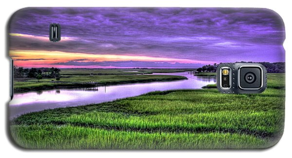 Sunset Over Turners Creek Savannah Tybee Island Ga Galaxy S5 Case