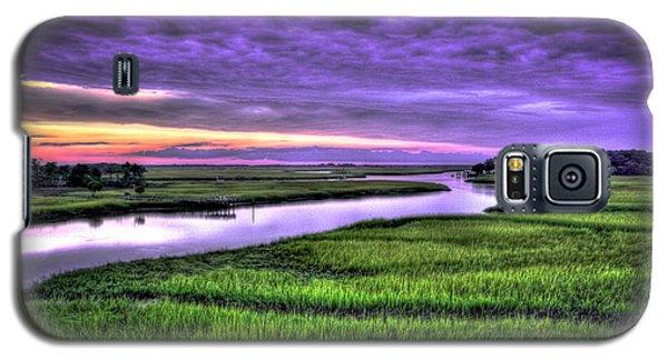 Sunset Over Turners Creek Savannah Tybee Island Ga Galaxy S5 Case