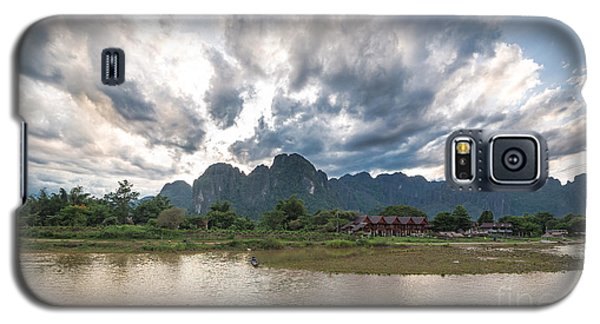 Sunset Over Vang Vieng River In Laos Galaxy S5 Case