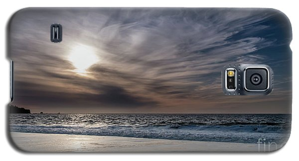 Sunset Over West Coast Beach With Silk Clouds In The Sky Galaxy S5 Case