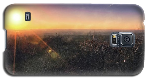 Galaxy S5 Case featuring the photograph Sunset Over Wisconsin Treetops At Lapham Peak  by Jennifer Rondinelli Reilly - Fine Art Photography
