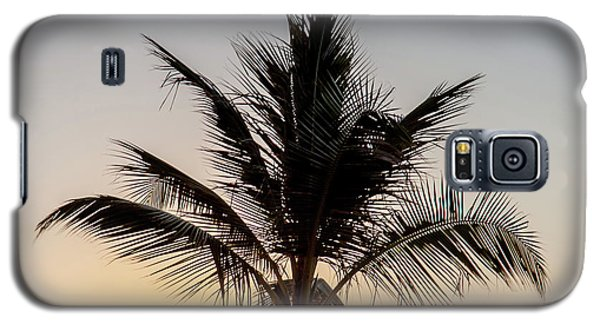 Galaxy S5 Case featuring the photograph Sunset Palm by Az Jackson