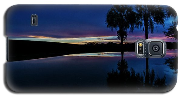 Galaxy S5 Case featuring the photograph Sunset Palms by Brian Jones