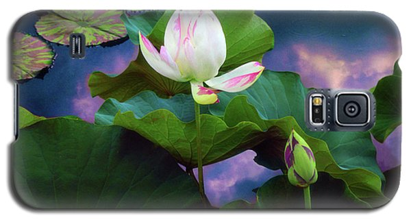 Sunset Pond Lotus Galaxy S5 Case