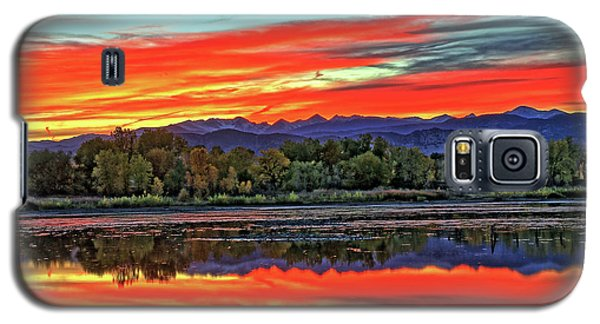 Galaxy S5 Case featuring the photograph Sunset Ponds by Scott Mahon